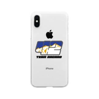 ゼッケンロゴ Clear smartphone cases