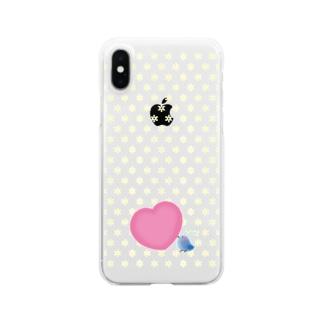 【愛を運ぶ】アオイトリ(スマホケース) Clear smartphone cases