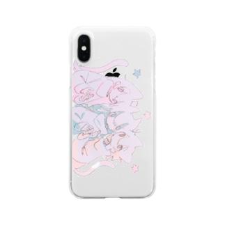 ねこんぺいと Clear smartphone cases