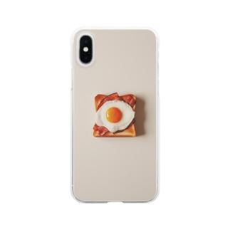 ベーコンエッグトースト Clear smartphone cases