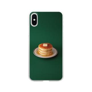 ホットケーキ Clear smartphone cases