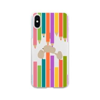 ペンギンのお子、阻まれる Clear smartphone cases
