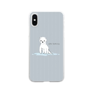 after bathing(gray) Clear smartphone cases
