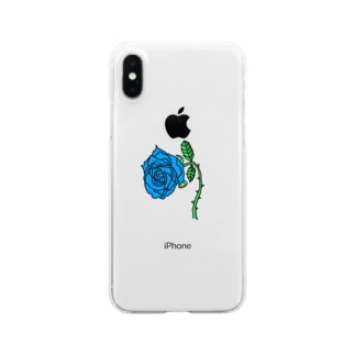 """""""Blue rose"""" Clear smartphone cases"""