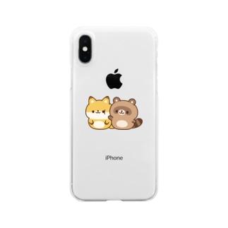 DECORのゆるたぬき ぽよぽよver. Clear smartphone cases
