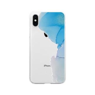 アルコールインク12 Clear smartphone cases