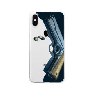 アブないものども_横向き Clear smartphone cases