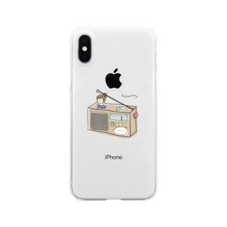 ラジオといっしょ。 Clear smartphone cases