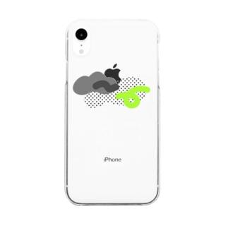 モニョモニョ ドット Clear smartphone cases
