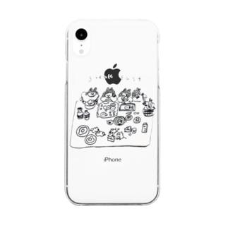 朝ごはん食べようケース Clear smartphone cases