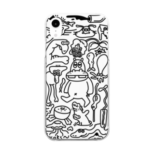 にぎやか (透明) Clear smartphone cases