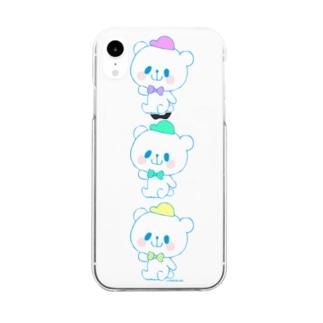 カラフルおやまくま3びき Clear smartphone cases