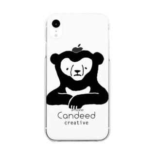 マレーグマ(ロゴあり) Clear smartphone cases