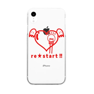 re:start!! Clear smartphone cases