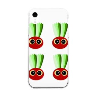 赤カブ坊や Clear smartphone cases