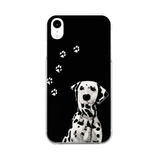 BLACK & WHITE DOG Clear smartphone cases