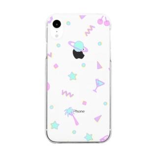 はじけるパステル Clear smartphone cases