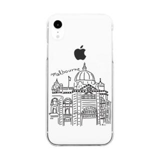 メルボルン Clear smartphone cases