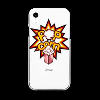 POPcorn公式グッズショップのPOPcorn スマホケース Clear smartphone cases