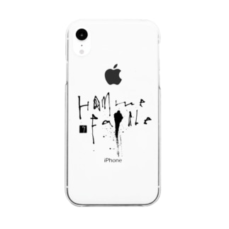 Homme Fatale Clear smartphone cases