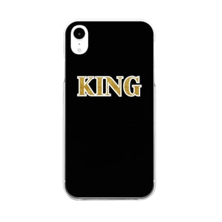 KING Black & Gold Clear smartphone cases