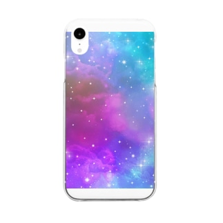 Dark Universe Rainbow Clear smartphone cases