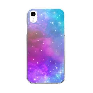 Dark Universe Rainbow Clear smartphone cases