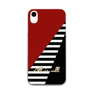 All is well Bordeaux Border Clear smartphone cases