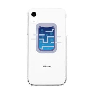 深海へ向かう飛行機の窓 Clear smartphone cases