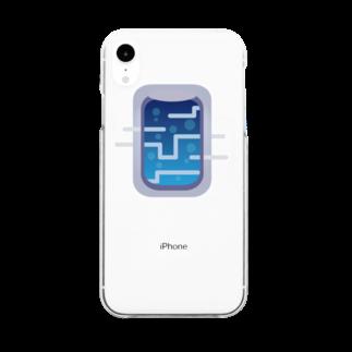 窓屋の深海へ向かう飛行機の窓 Clear smartphone cases