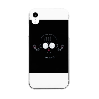 tha girl's  ブラック Clear smartphone cases