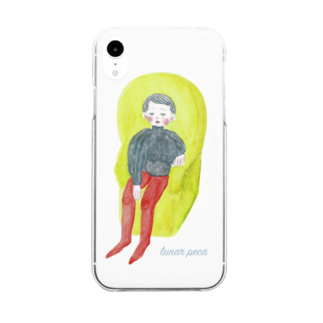 lunar pecaのmam Clear smartphone cases