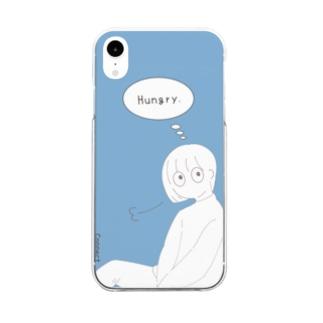 シンプルガール Clear smartphone cases