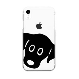 黒ラブたん フェイス Clear smartphone cases