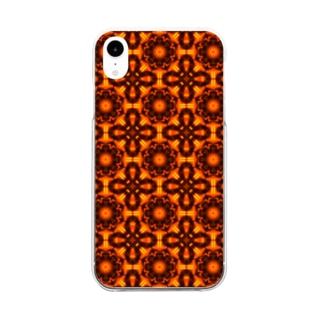 オシャレな基盤のスマホケース(赤)  Clear smartphone cases