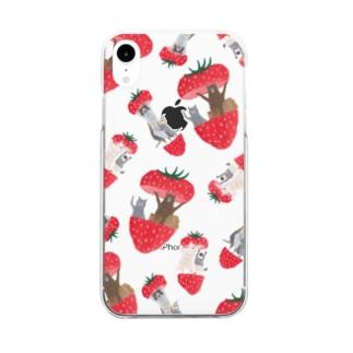 トコロコムギのフルーツアニマル・いちご Clear smartphone cases