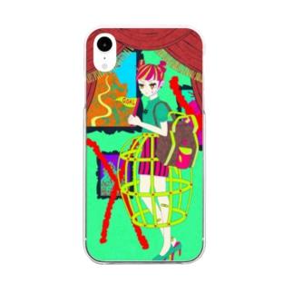 不毛GIRL Clear smartphone cases