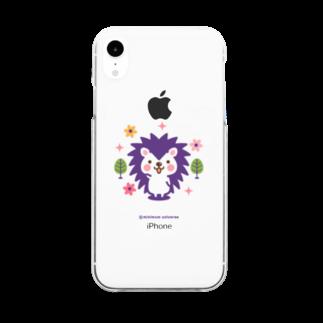 minimum universe / ミニマムユニヴァースのハリネズミのハリさん Clear smartphone cases