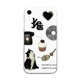 Black cat Clear smartphone cases