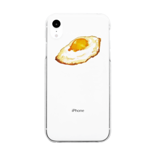 yoakemaeの目玉焼き Clear smartphone cases