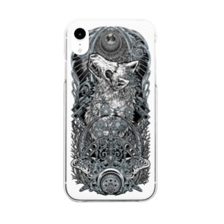 TAROT - THE MOON. Clear smartphone cases