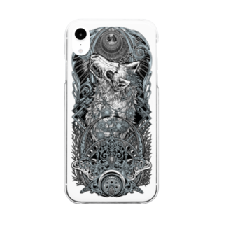 BLACKINK のTAROT - THE MOON. Clear smartphone cases