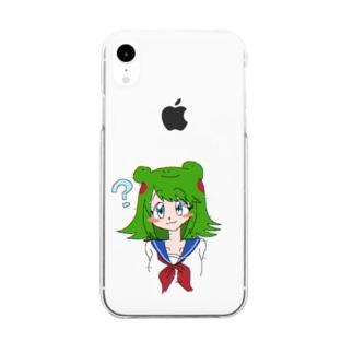 カエルの女の子 Clear smartphone cases