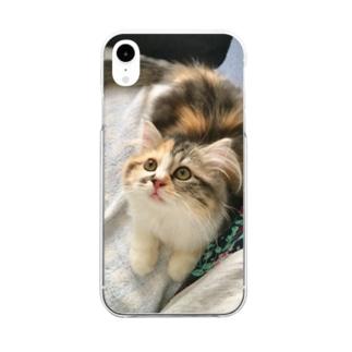 琴さん Clear smartphone cases