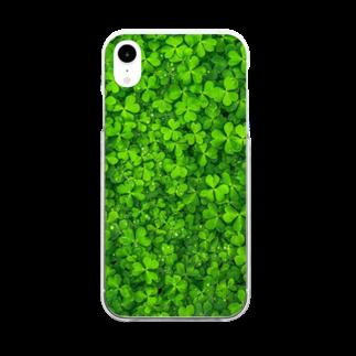 Loopのクローバー Clear smartphone cases