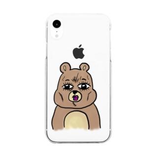 くま Clear smartphone cases