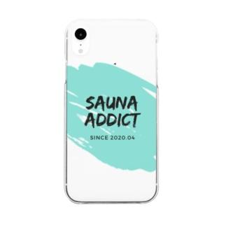 SAUNA ADDICT オリジナルスマホケース Clear smartphone cases