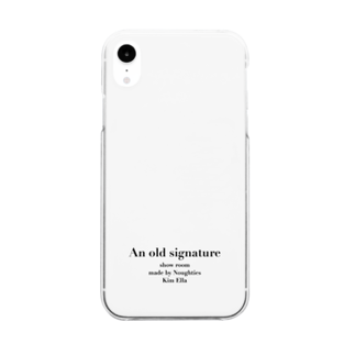 Anoldsignatureのan old signature Clear smartphone cases