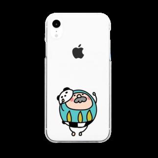 さくらむすびのじんわりくるパンダルマさん Clear smartphone cases