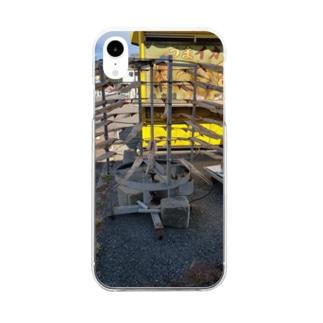 イカの天日干し Clear smartphone cases